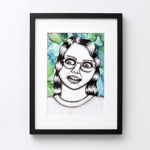 """Ugly-pretty """"Glasögon"""" (poster/print A4)"""