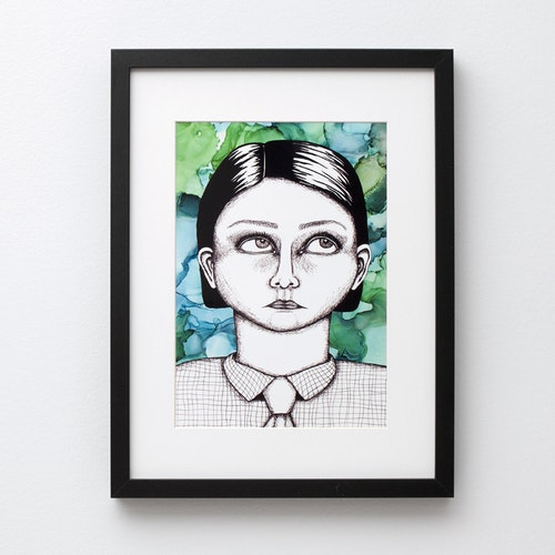 "Ugly-pretty ""skjorta"" (poster/print A4)"