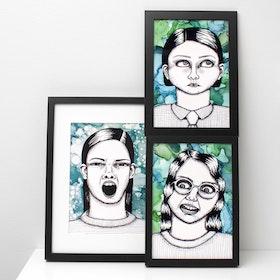 "PAKETPRIS! 3 stycken ""ugly-pretty"" (posters/prints A4)"