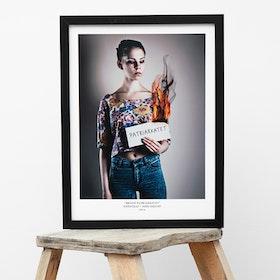 "Fotografi ""Bränn patriarkatet"" (poster/print 30x40 cm)"