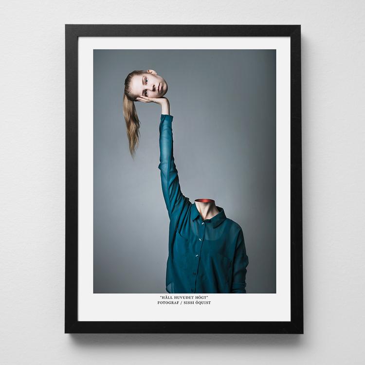 """Konstfoto """"Håll huvudet högt"""""""