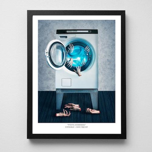 """Konstfoto """"Tvätta händerna"""" / poster / print / corona"""