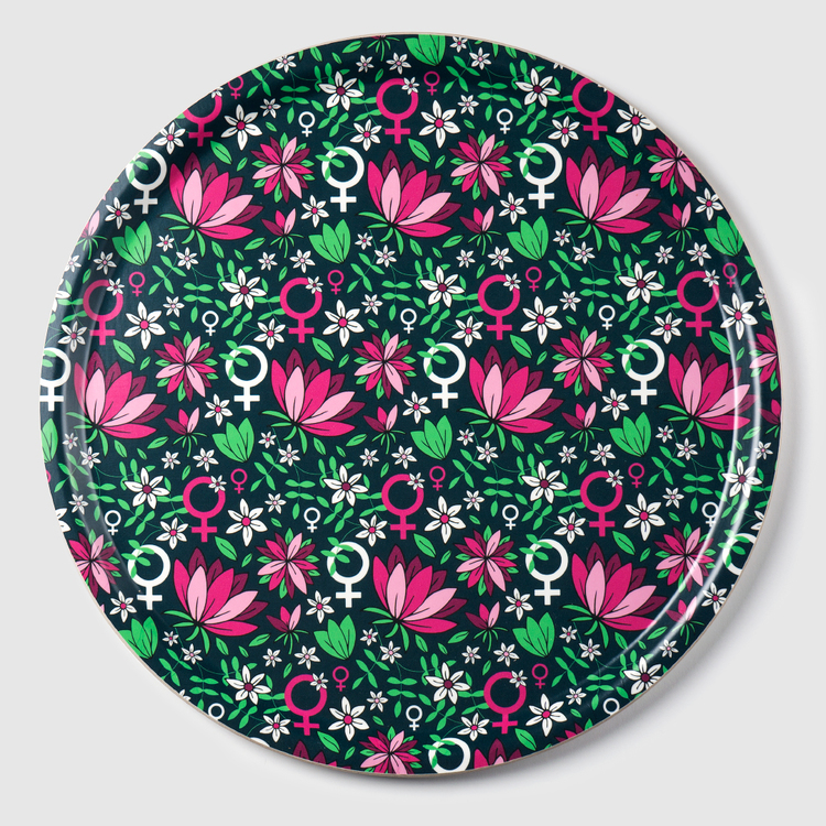 Feministbricka / rosa / 38 cm