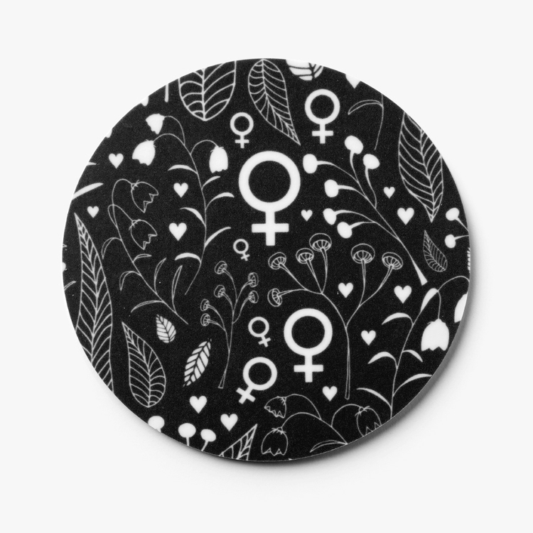 Glasunderlägg / coasters / svart / 4 st