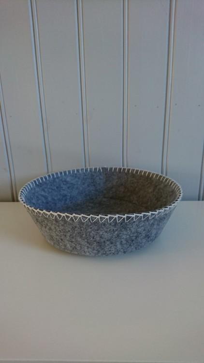 Korg filt grå