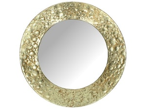 Rund spegel guld