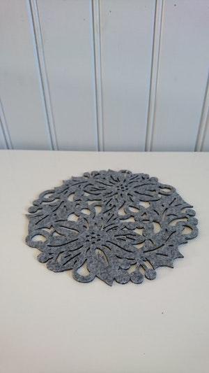 Bordstablett filt grå