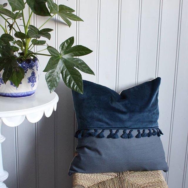 Kuddfodral Lyxa blå