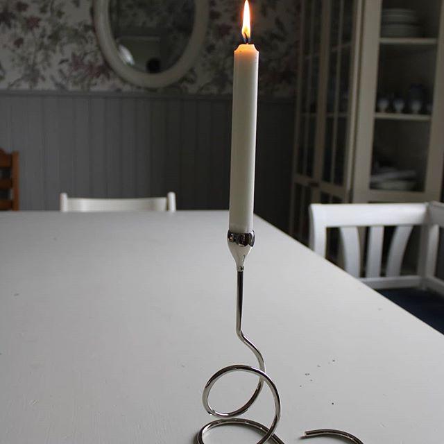 Ljusstake nordic light silver 23 cm