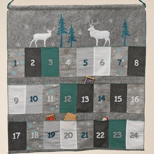 Adventskalender i textil