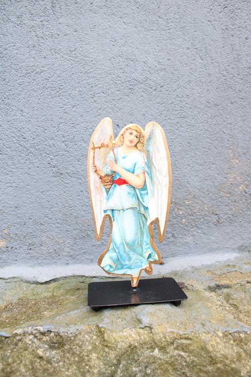 MEMORIES Ängel stående Blå