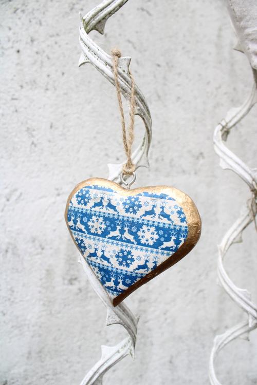 GLORIA Hjärta Vit/blå