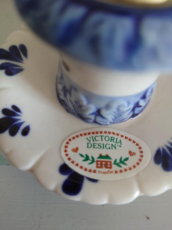 Ljusstakar blå Victorias Design Skanör