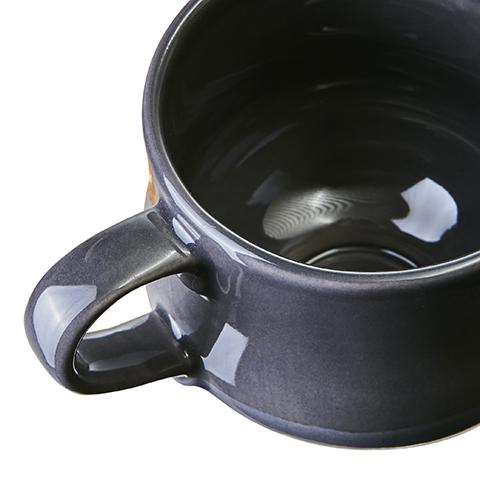 LEO Kopp S Mörkgrå/vit