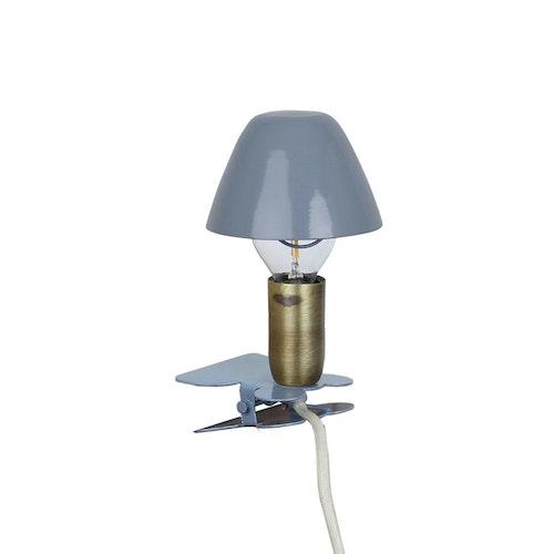 Lampa Mini På Klämma Blå