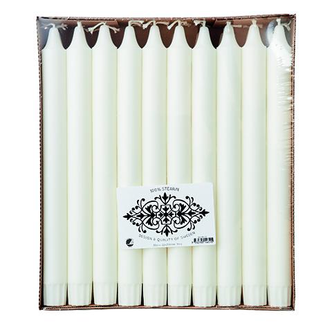 WHITE Ljus 30-pack Vit 100% stearin