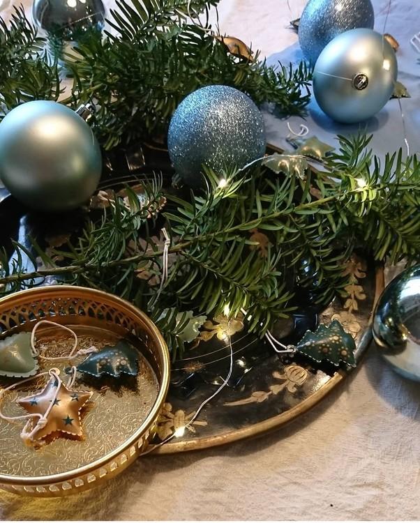 Julgranskulor Blå 6-p