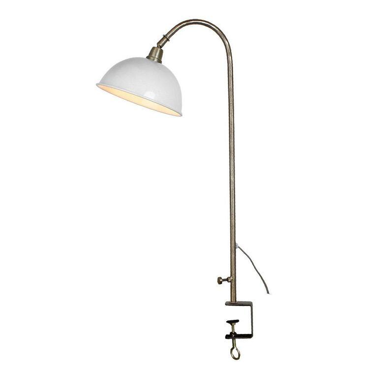 Bordslampa Pelle Antik Vit/Mässing
