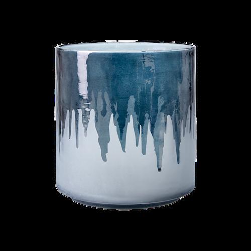 AMEZ Värmeljushållare L, Blå/grå