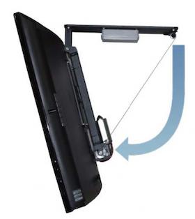 Motoriserat takfäste Plasma / LCD 50kg