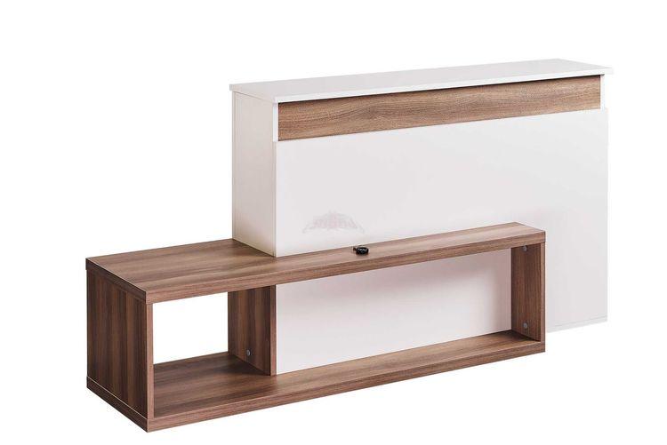 TV-möbel med inbyggd TV-LIFT VIT