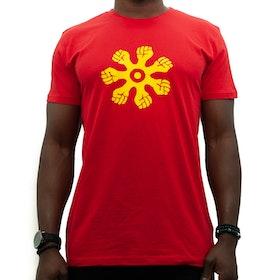 T-shirts - rak modell - röd