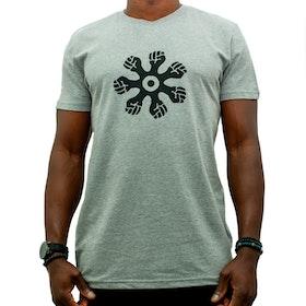 T-shirt - rak modell - grå
