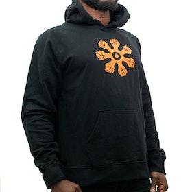 Hoodie - rak modell - svart