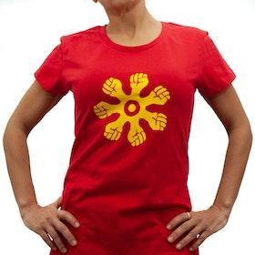 T-shirt - slim modell - röd
