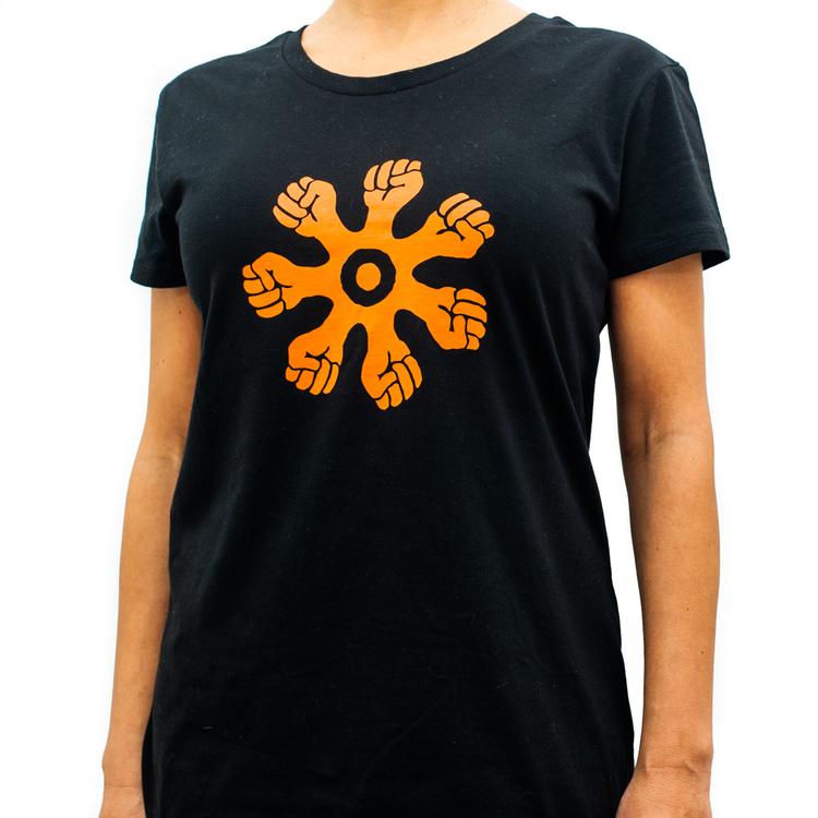 T-shirt - slim modell - svart
