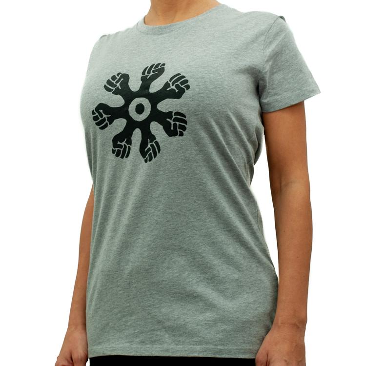 T-shirt - slim modell - grå