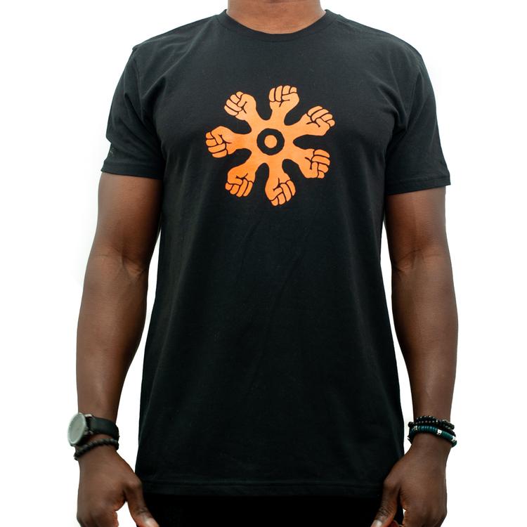 T-shirt - rak modell - svart