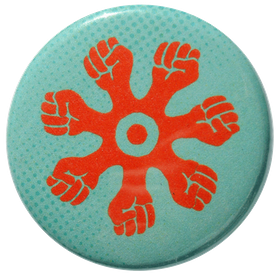 Pin turkos/orange