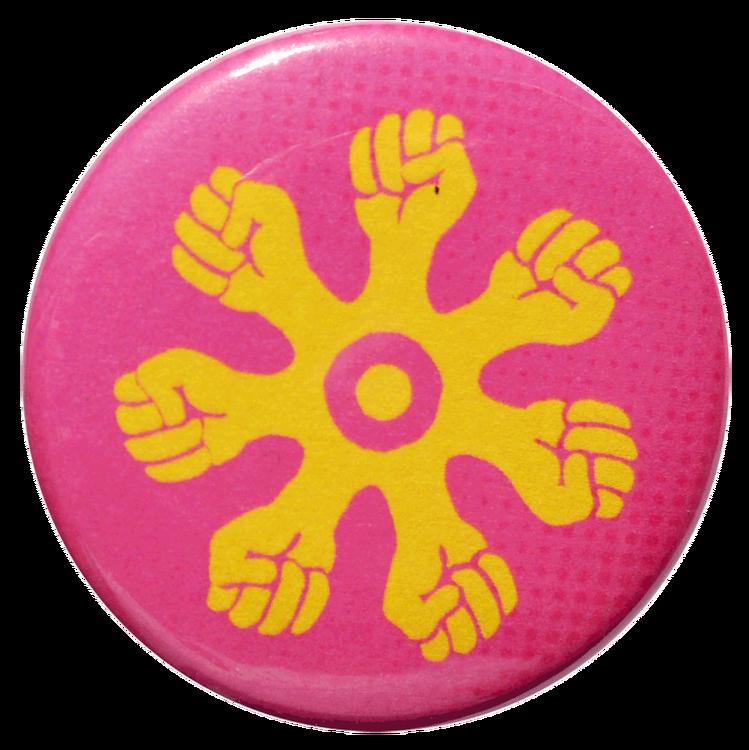 Pin rosa/gul