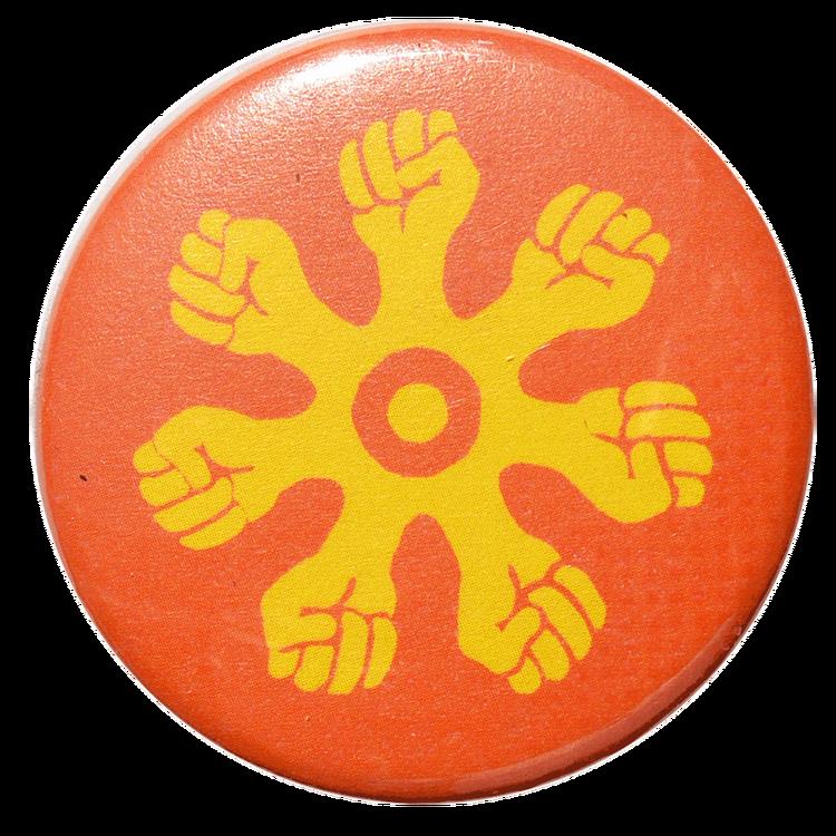 Pin orange/gul