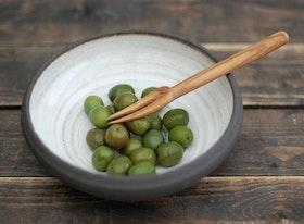 Gaffel i olivträ