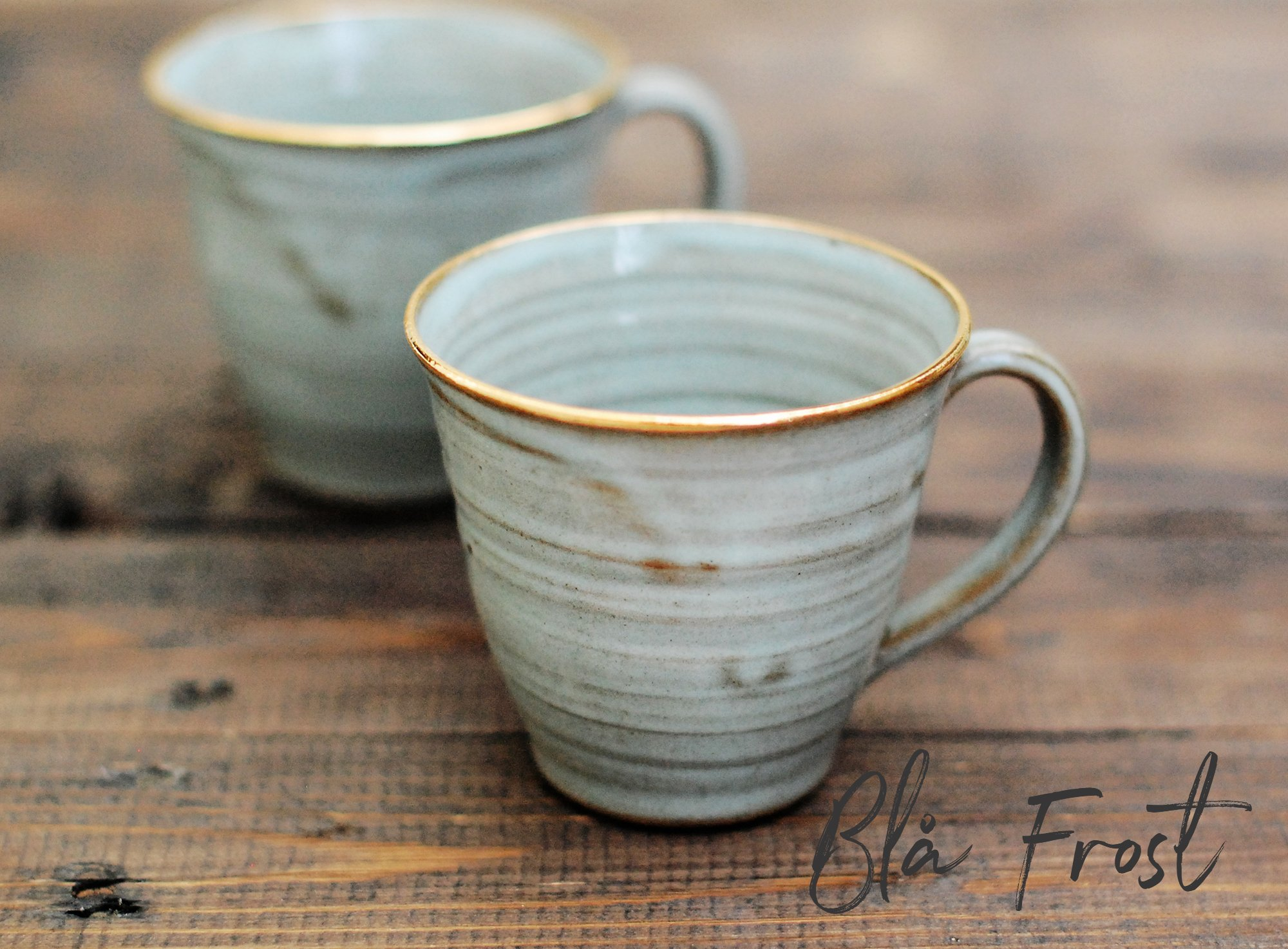 Kaffekopp med guldkant (fler färger)