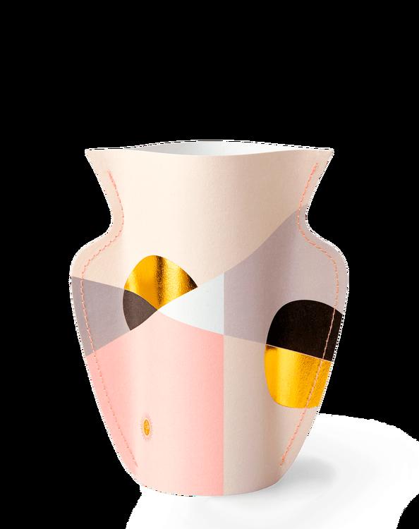 Mini Pappersvas SIENA, pink