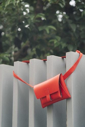 Kangaroo Belt Bag - Red