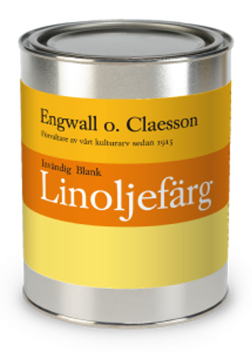 Blank Linoljefärg Vit