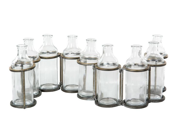 Flaskor m. ställning