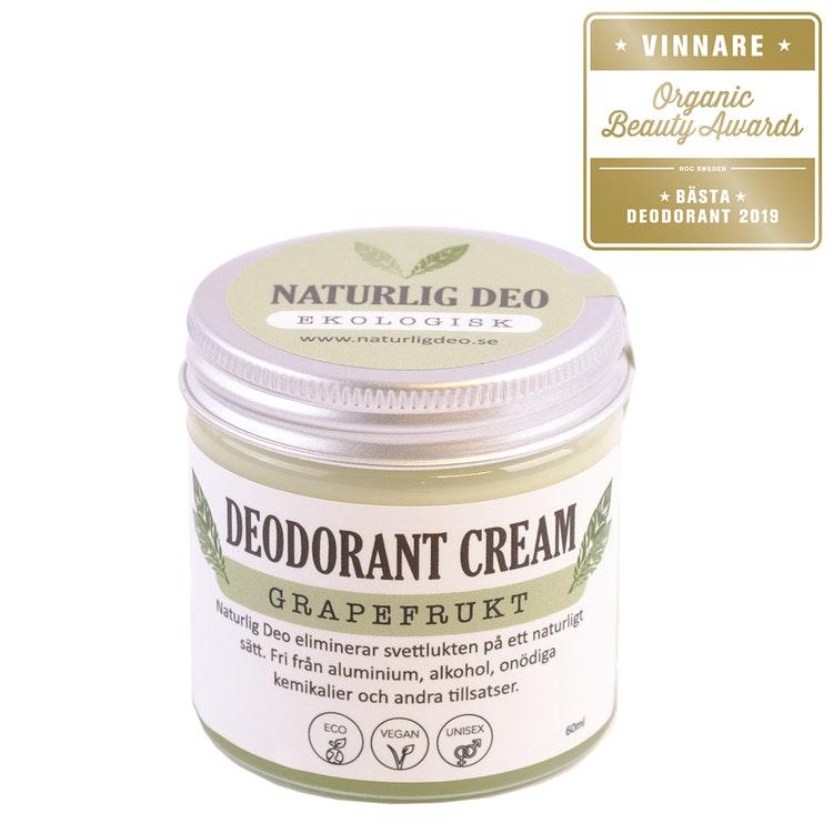 NaturligDeo Cream Grapefrukt - Ekologisk Deodorant