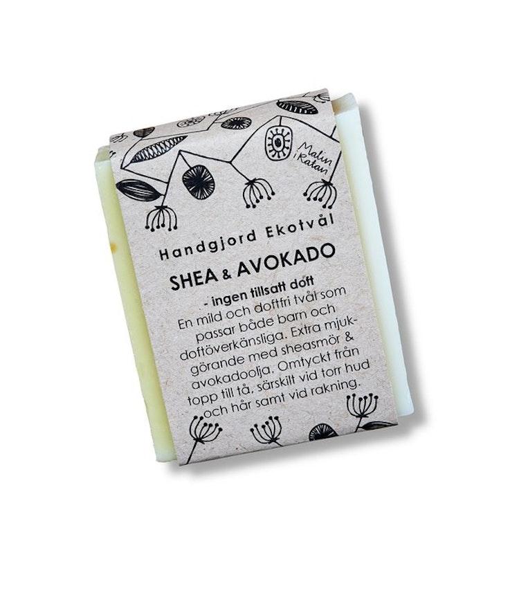 Handgjord Ekotvål Shea & Avokado - ingen tillsatt doft