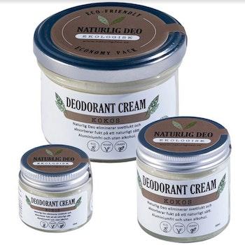 NaturligDeo Cream Kokos - Ekologisk Deodorant