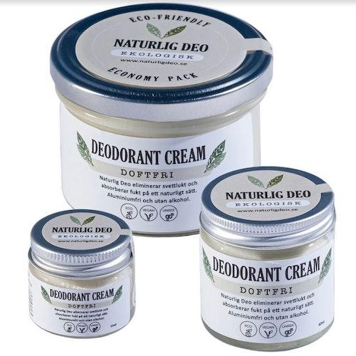 NaturligDeo Cream Doftfri - Ekologisk deodorant