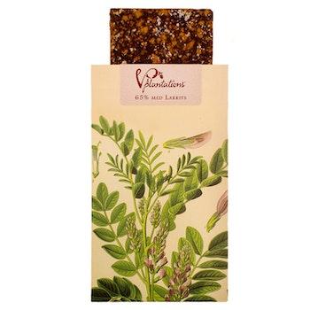 Choklad 65% med Lakrits