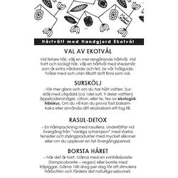 Info sheet Hair wash with Handmade Eco Soap