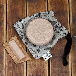 Fotfil och nagelfil av svensk sandsten