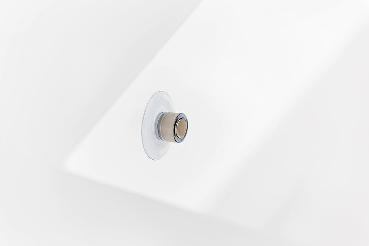 Minimalistisk design i badrummet
