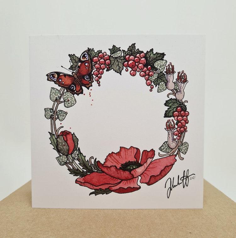Handmålade presentkort att ge bort